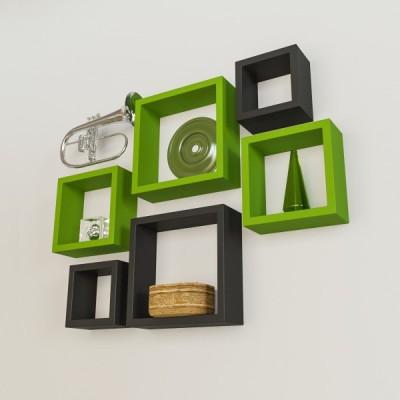 Ganeshaas GHWSDS05GB Wooden Wall Shelf