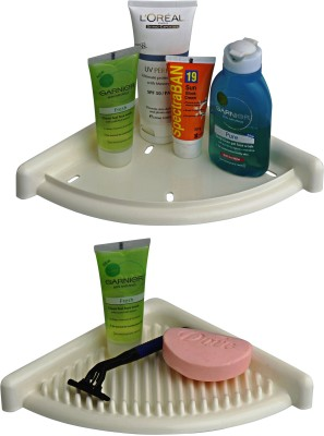 Cipla Plast 3D Bath Set Plastic Wall Shelf