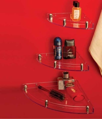 Bathcare Plastic, Aluminium Wall Shelf