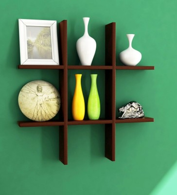 Decorhand MDF Wall Shelf(Number of Shelves - 1, Brown)