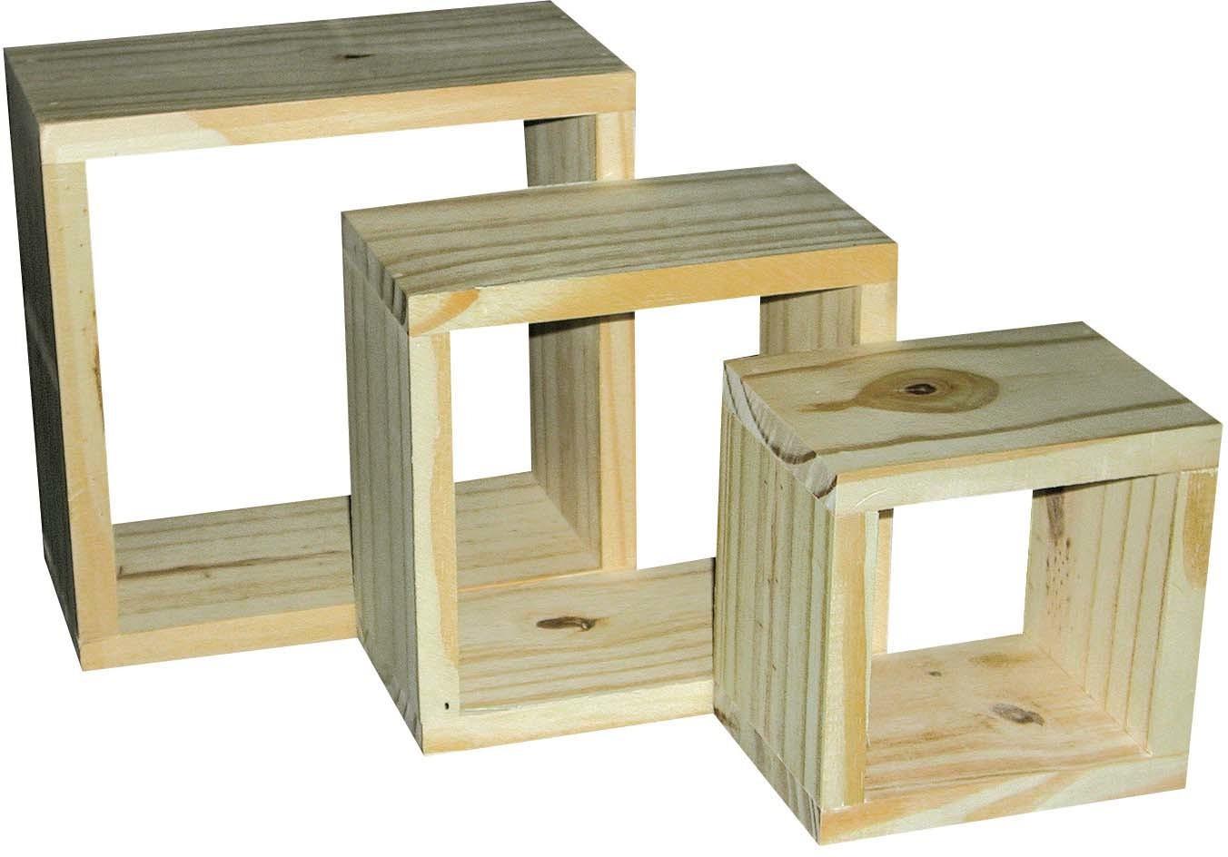 View Woodsvilla Wooden Wall Shelf(Number of Shelves - 3, Yellow) Furniture (Woodsvilla)