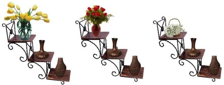 View Craftatoz Wooden Wall Shelf(Number of Shelves - 3) Furniture (Craftatoz)