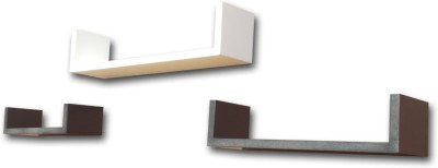 BM WOOD FURNITURE U Shape MDF Wall Shelf