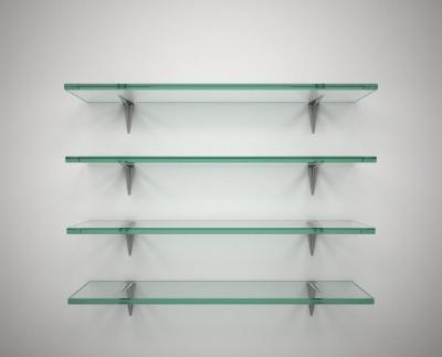 SDG Glass, Brass Wall Shelf