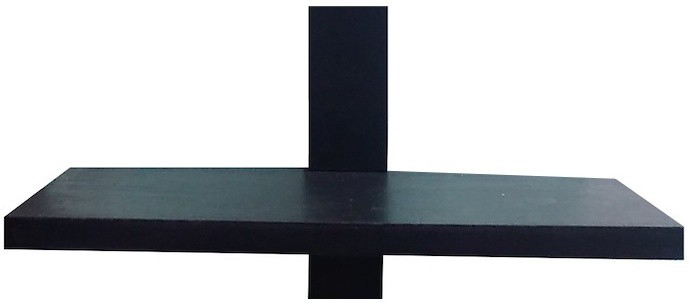View Arsalan Wooden Wall Shelf(Number of Shelves - 1, Black) Furniture (Arsalan)