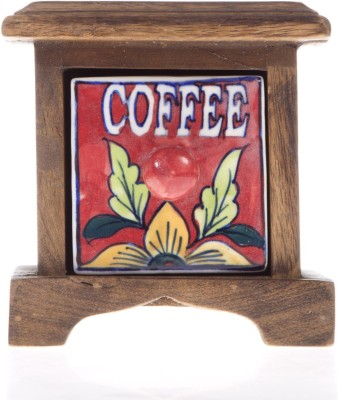 Smile2u Retailers Coffee Box Wooden Wall Shelf(Number of Shelves - 1, Multicolor)