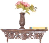 Onlineshoppee Hand Carved Wooden Wall Shelf(Number of Shelves - 1, Brown)