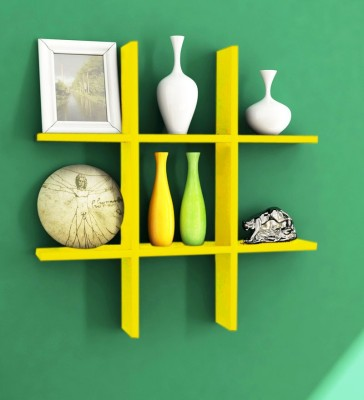 Decorhand MDF Wall Shelf(Number of Shelves - 1, Yellow)
