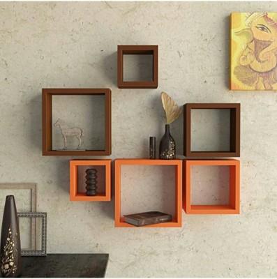 hardika furniture Nesting Square Shaped MDF Wall Shelf