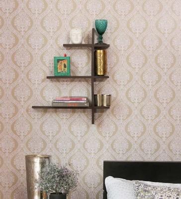 New Look Mw20 Black Wooden Wall Shelf