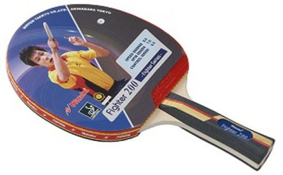Nittaku Fighter 200 Standard Strung Table Tennis Paddle(Multicolor, Weight - NA)