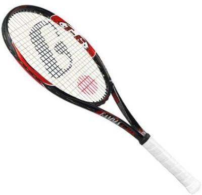 Gamma T-6 Mid-Plus Tennis Racquet G4(Black, Red, Weight - 309 g) at flipkart
