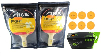 Stiga Fight & Cup Kit with Covers Table Tennis Racquet