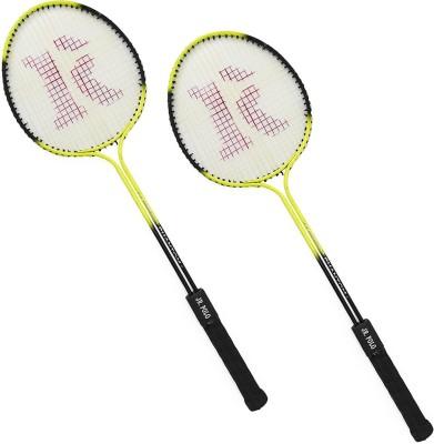 sunley roxon yellow phantom jr polo double shaft racket 6 Strung Badminton Racquet