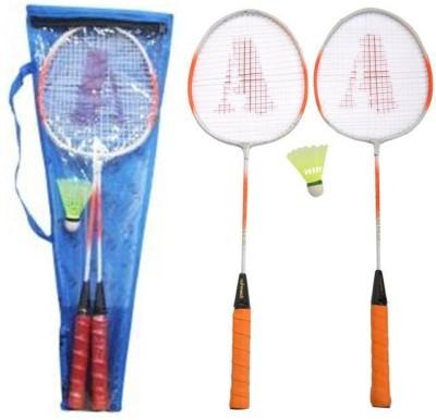 Smash Striped Strung Badminton Racquet