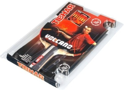 Tibhar Volcano X Star Standard Table Tennis Paddle(Red, Weight - 73 g)