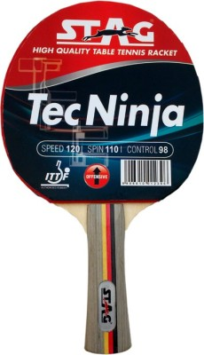 Stag Tec Ninja With Deluxe Case G4 Unstrung Table Tennis Racquet