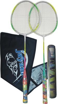 Jayam Rangeila Triple (2 Racket + 10 Shuttle + Bag) Badminton Kit