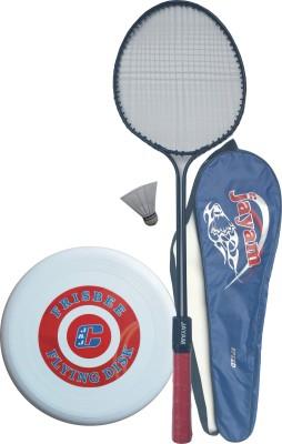 Jayam Speed (With Frisbee) (1 Racket + 1 Shuttle + Bag) G3 Strung Badminton Racquet