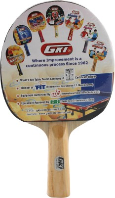 GKI Kung Fu Table Tennis Paddle(Red, Black, Weight - 300-400)