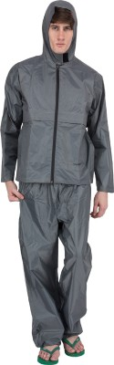 Asvina Grey Color With Pant Solid Men,s Raincoat