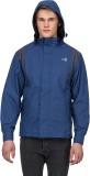 T- Base Blue Reversible Rainwear Jacket ...