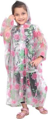 HighLands Floral Print Girl's Raincoat