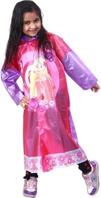 HighLands Highlands_maria_dark.Pink Graphic Print Girl's Raincoat