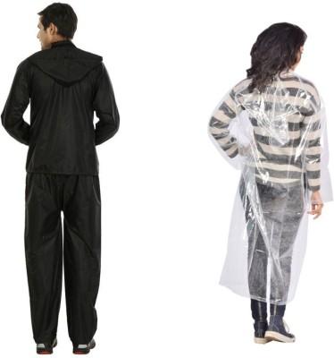 Autosky Solid Men,s, Women's Raincoat