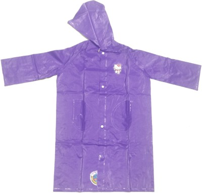 RI RainWear Solid Girl's Raincoat