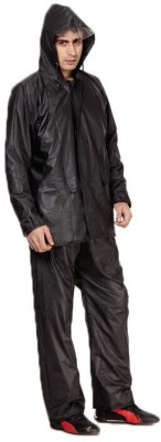 B&W Solid Mens Raincoat