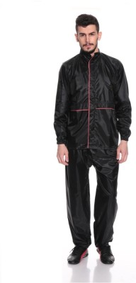 Monsuun Piping Rainsuit Solid Men's Raincoat