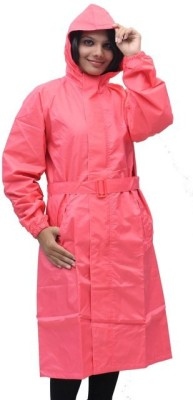 Romano Hooded Rain Overcoat Solid Women's Raincoat