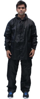 Romano Rain Suit with Waterproof Jacket and Pant Solid Men's Raincoat