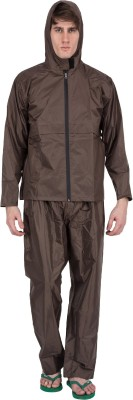 Asvina Brown Color With Pant Solid Men,s Raincoat