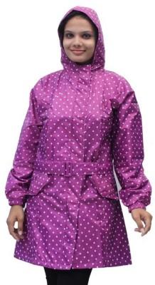 Romano Waterproof Rain Overcoat Polka Print Women's Raincoat