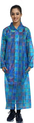 Finery Checkered Womens Raincoat