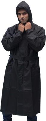 Romano Hooded Rain Monsoon Overcoat Solid Men's Raincoat