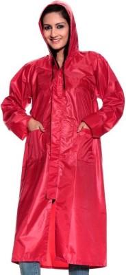 Monsuun ALSKC-15-10R-Red Coat Solid Women's Raincoat