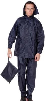 Monsuun Navy Rainsuit Solid Men's Raincoat
