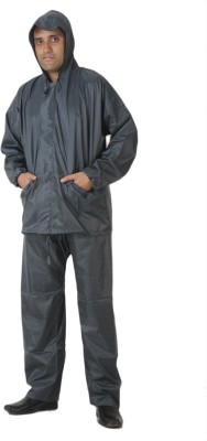Bs Spy 3 Piece Rainsuit With Cap And Cover Solid Mens Raincoat