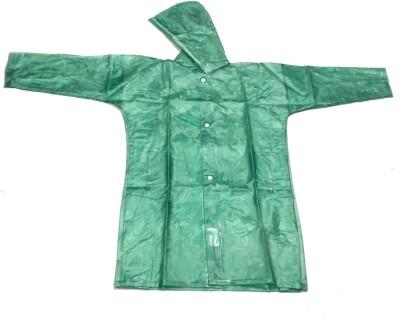 RI RainWear Self Design Girl's Raincoat