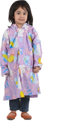 Burdy 29G PVC Printed Girls Raincoat