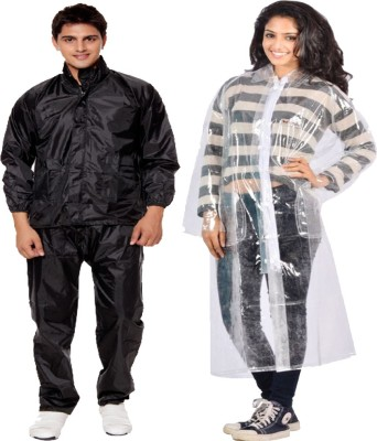 KeepSake Solid Mens Raincoat