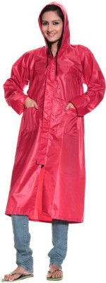 BS SPY 2 Piece Women,S Long Coat With Cap Solid Women's Raincoat