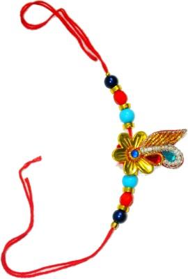 Sajawat Design Designer Rakhi(Multicolour, Rakhi)
