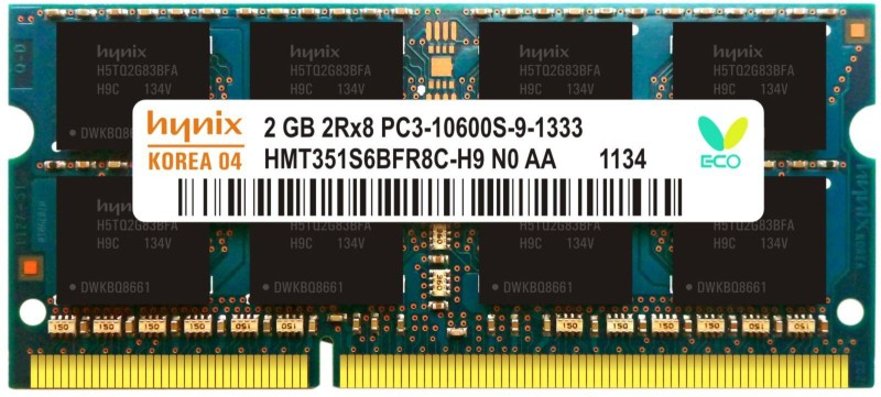 Hynix Genuine DDR3 2 GB Laptop (H15201504-23)