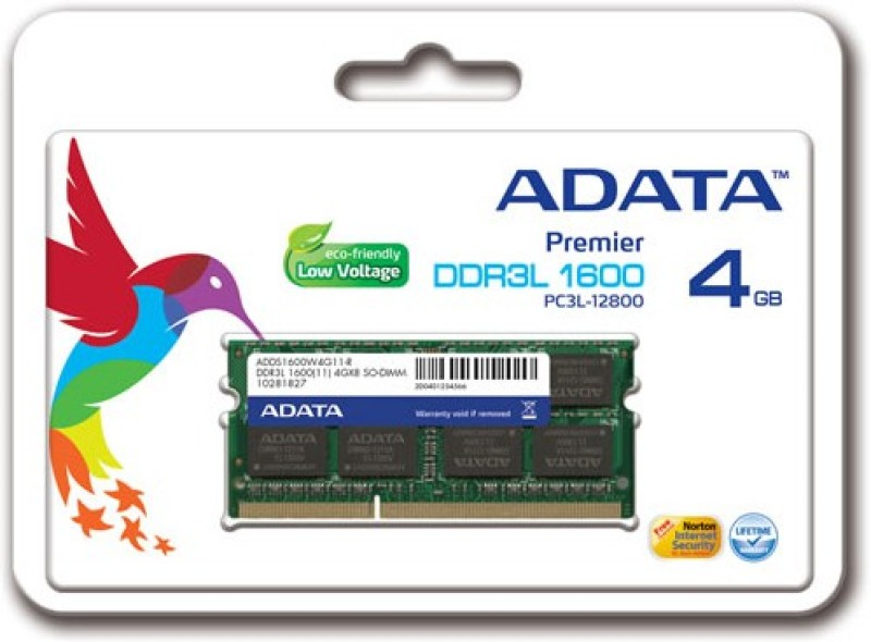 ADATA Premier DDR3 4 GB Laptop (ADDS1600W4G11-R)