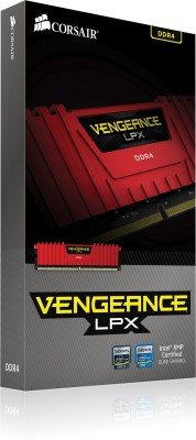 Corsair Vengeance DDR4 4 GB (1 x 4 GB) PC DRAM (CMK4GX4M1A2400C16R)(Red)