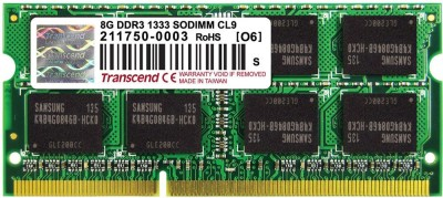 Transcend Low Voltage DDR3 8 GB (8 x 512 MB) Laptop (TS1GSK64W6H)